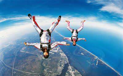 Прыжок с парашютом!!