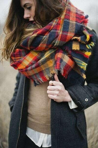 Тёплые шарфы