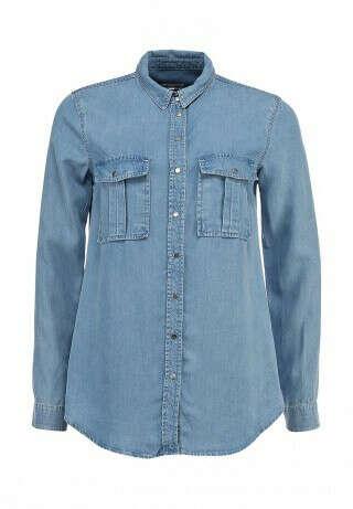 Рубашка из джинсы в стиле нормкор