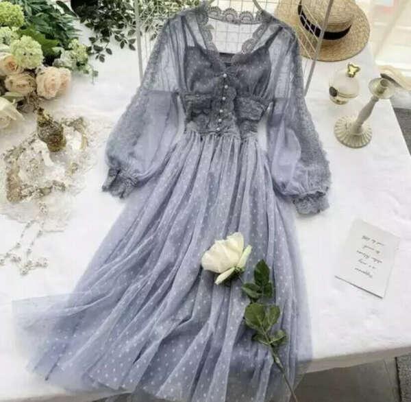 Сетчатое платье