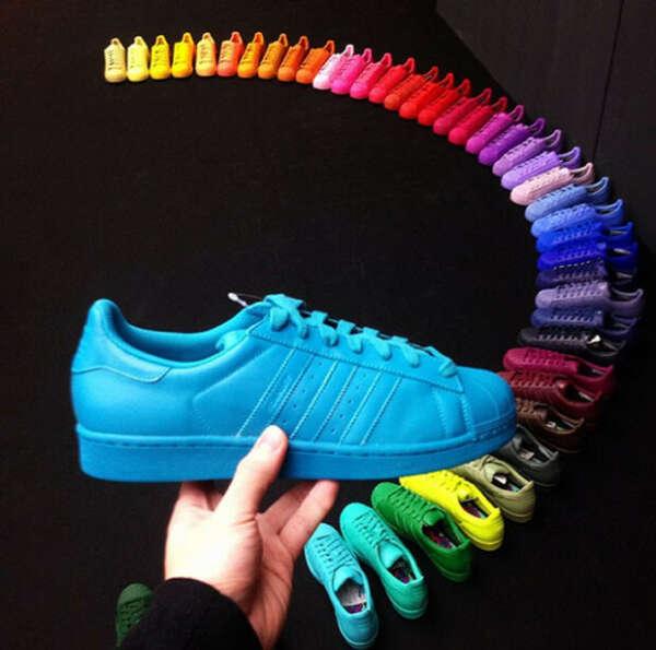 adidas Кроссовки Superstar Supercolor - Blue | adidas Россия