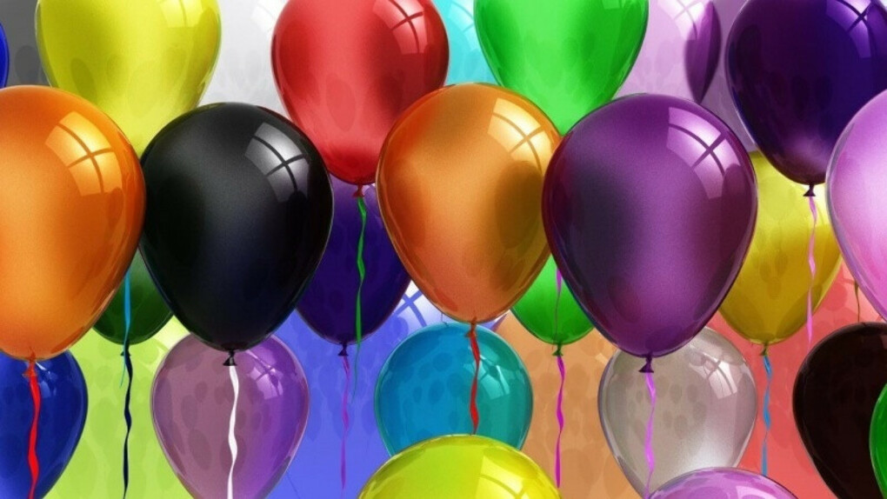Много-много воздушных шаров
