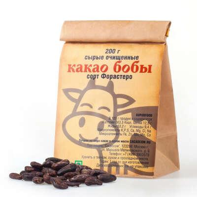 Какао-бобы очищенные