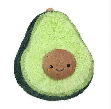 Мягкое авокадо подушка