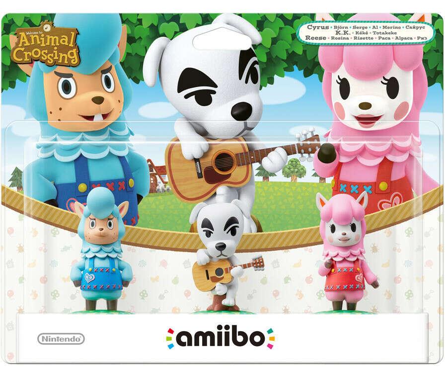 Комплект amiibo Сайрус, К.К. и Риз – Коллекция Animal Crossing amiibo Festival