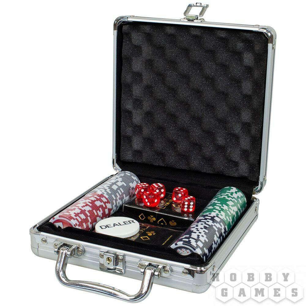 Набор из 100 фишек для покера с номиналом, цена 11990 Тг., купить в Алматы — Satu.kz (ID#81452070)
