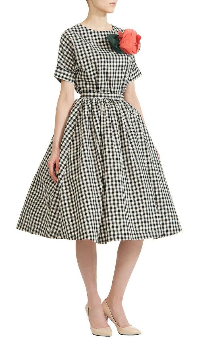 Черно-белая юбка в стиле new look