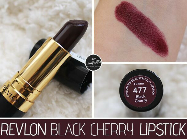 Revlon Super Lustrous Lipstick Black Cherry 477