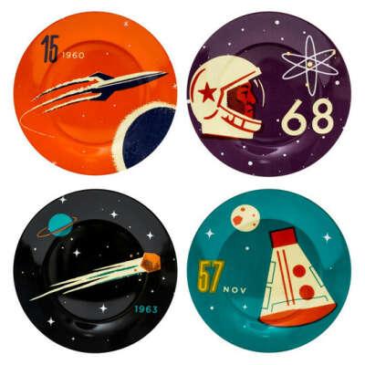Тарелки Cosmonaut, набор 4 шт