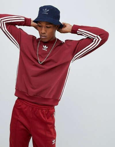 Красный свитшот в полоску adidas Originals Authentic DH3836