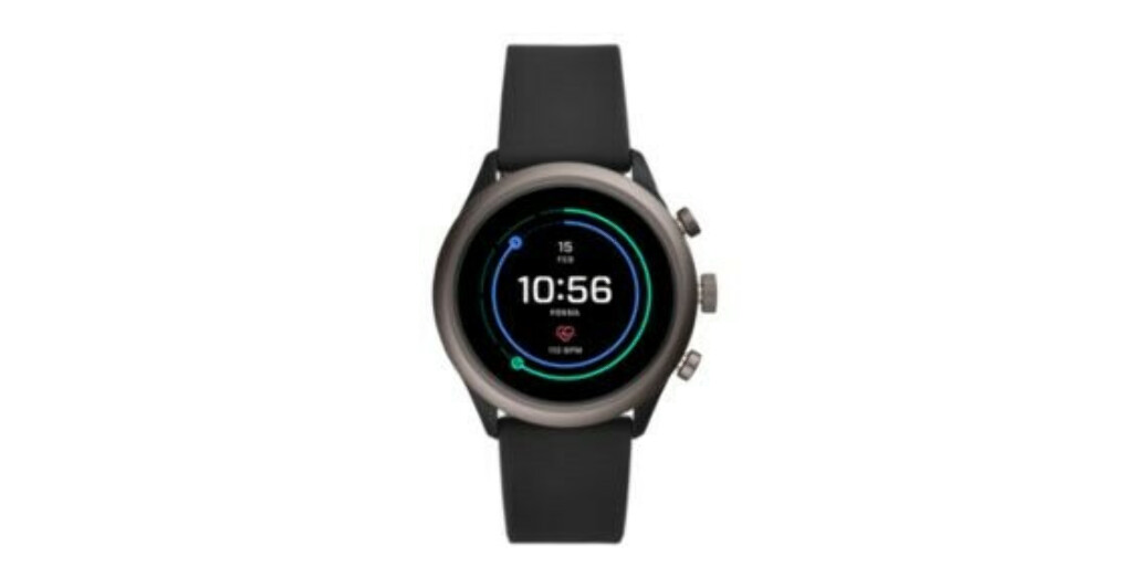 Fossil Sport Smartwatch - 43mm Black Silicone