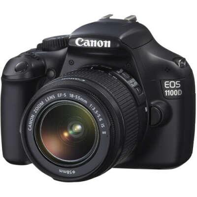 Зеркальная фотокамера Canon EOS 1100D 18-55IS Kit черный