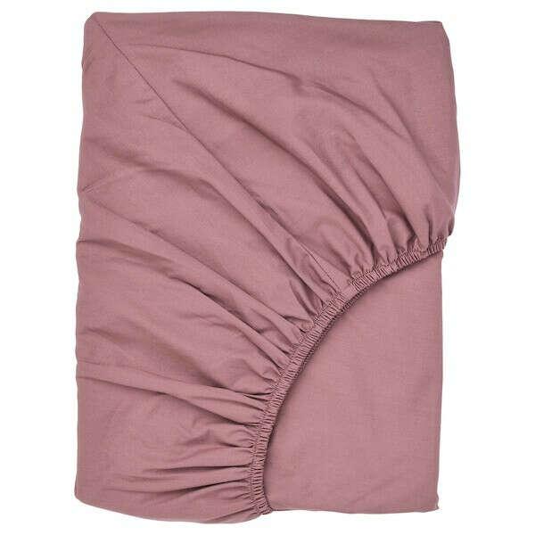 Купить УЛЛЬВИДЕ Простыня натяжная, темно-розовый, 180x200 см в интернет-магазине - IKEA