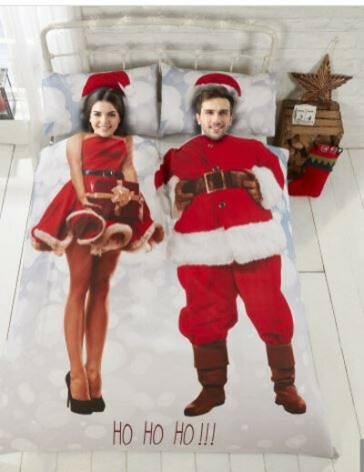 Rapport selfie Santa Set de funda de edredón, Multi, rey
