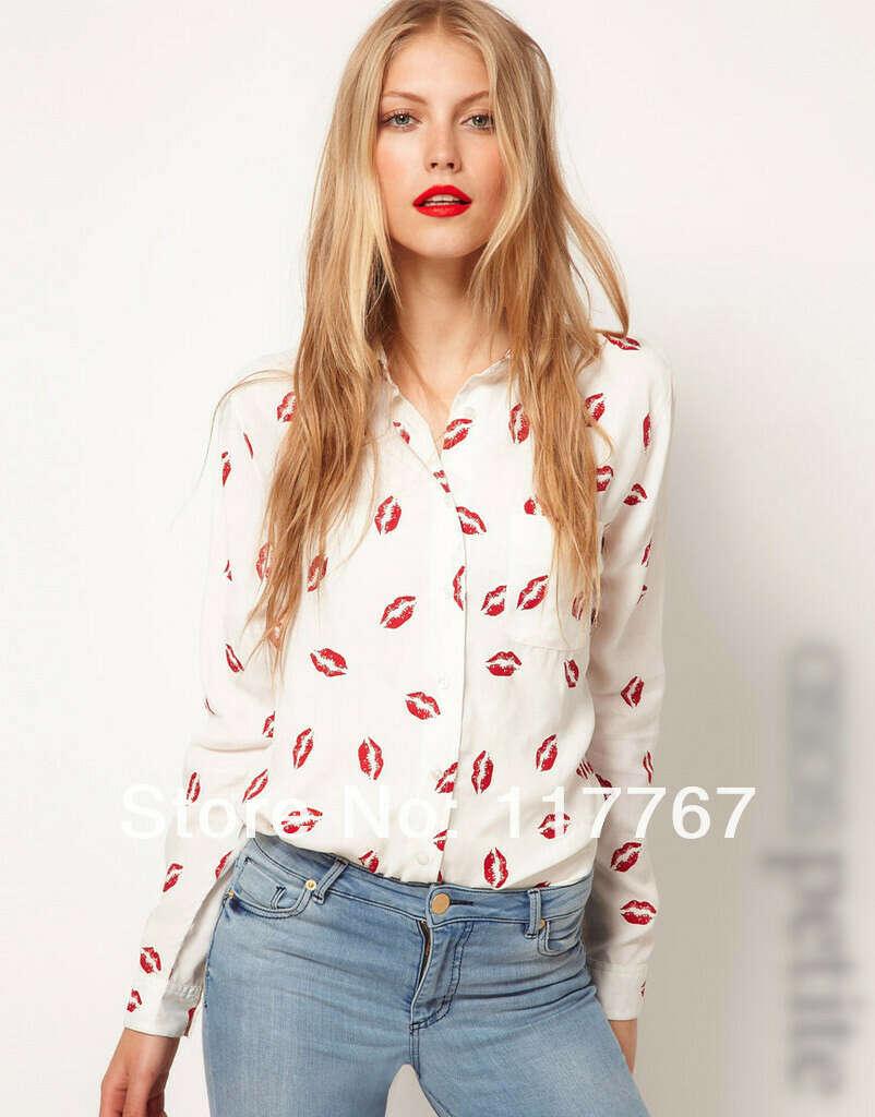 Рубашка с губами