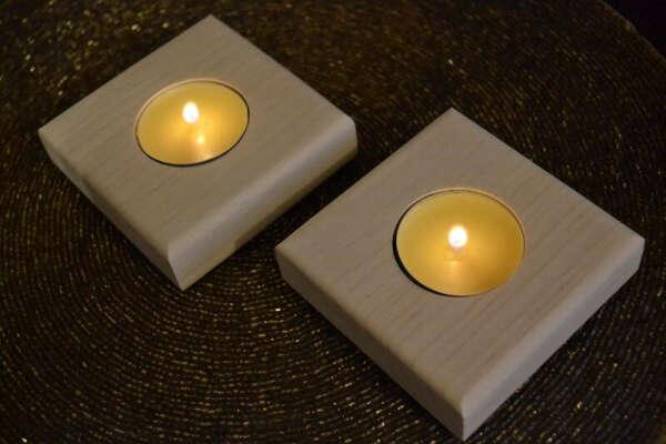 Подсвечник на 1 свечу из ольхи Light Up 1 ручной работы купить в Украине