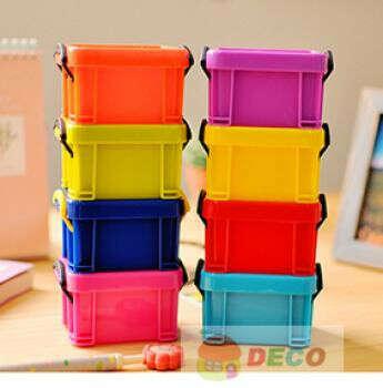 Candy color mini storage box