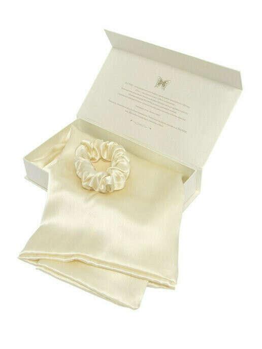 Silk Shine / Шелковый набор для сна из натурального шелка наволочка 50*70, резинка для волос