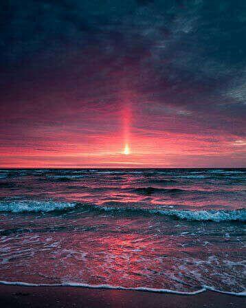 встретить рассвет на море