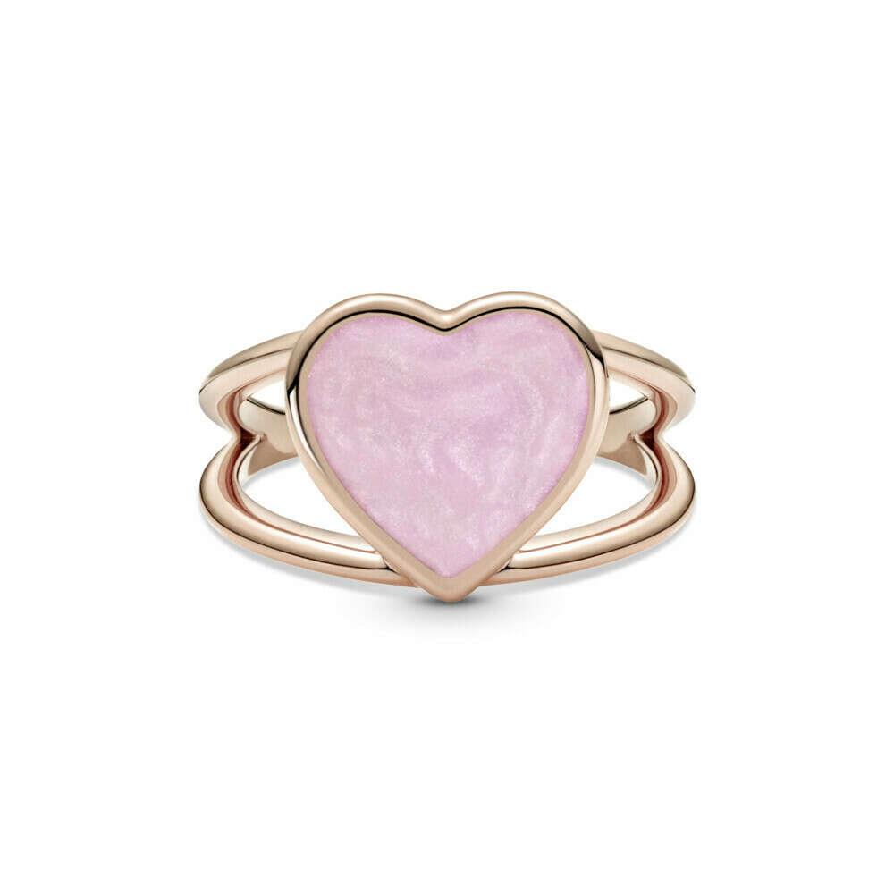 "Pandora Кольцо ""Розовое сердце"""