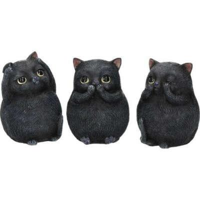 """Набор статуэток """"Черные котята"""""""