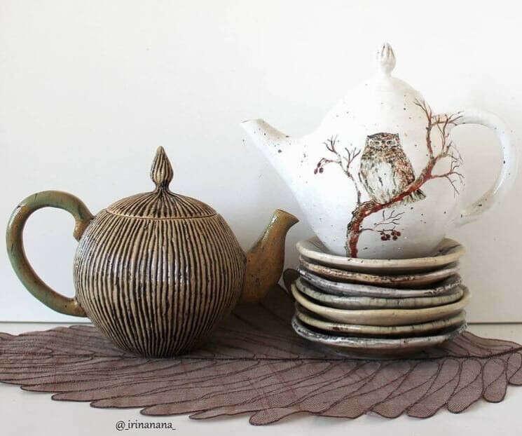 керамическая посуда от @_irinanana_