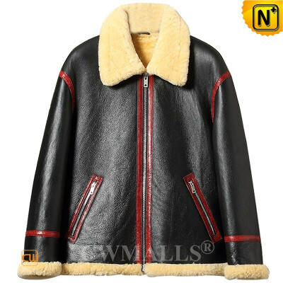 Custom Sheepskin Jacket   Sheepskin Shearling Flying Jacket CW828325   CWMALLS®