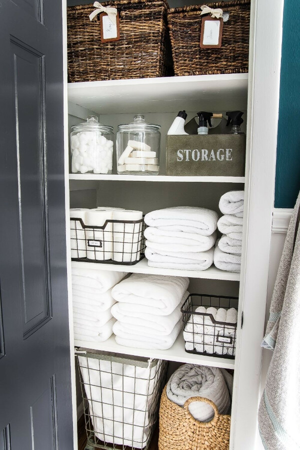 Удобное и красивое хранение вещей в доме