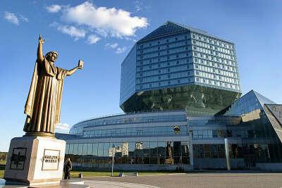 Посетить национальную библиотеку в Минске