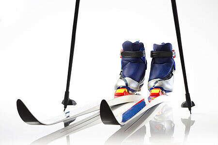 Беговые лыжи и палки