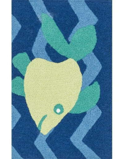 LOLOI RUGS-ANGELOUHAN09-BLUE-YELLOW-19X29