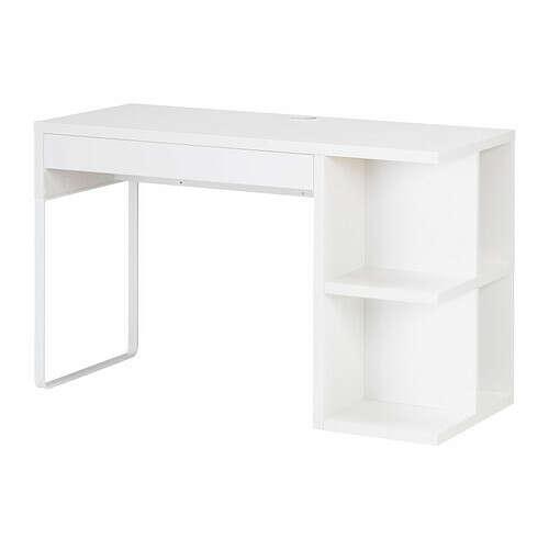 МИККЕ Письменный стол с отделением д/хран - белый  - IKEA