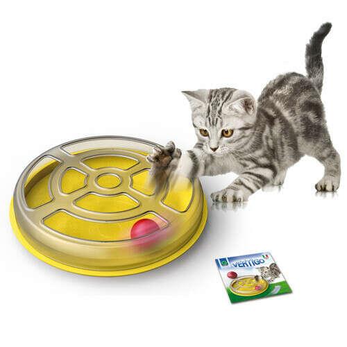 Игрушка для кошек GEORPLAST Vertigo с шариком d=29см пластик