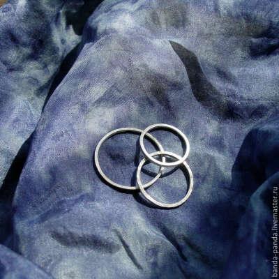 Серебряные кольца Ниточки
