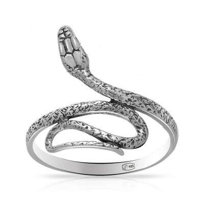 Кольцо Змея из серебра — Ювелирный интернет-магазин 585 Золотой.