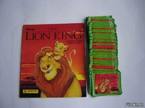 Журнал с наклейками король лев панини
