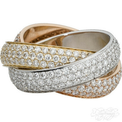 кольцо trinity cartier