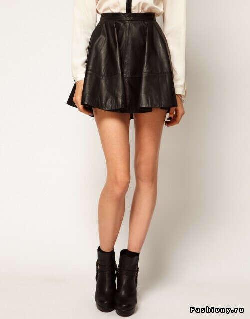 Кожанную юбку