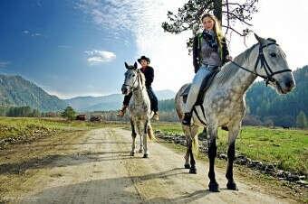 совершить конную прогулку