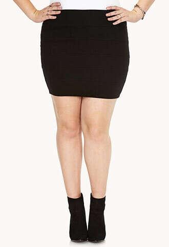 Basic Bandage Bodycon Skirt