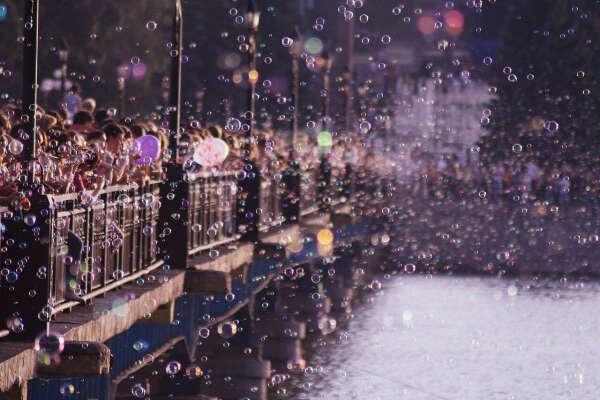 Флешмоб мыльных пузырей
