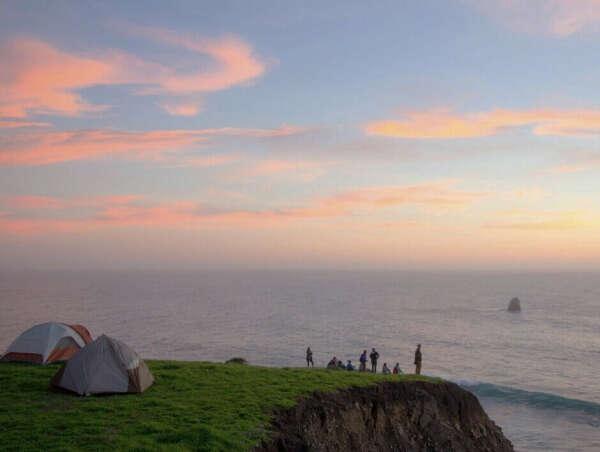 С палатками к морю