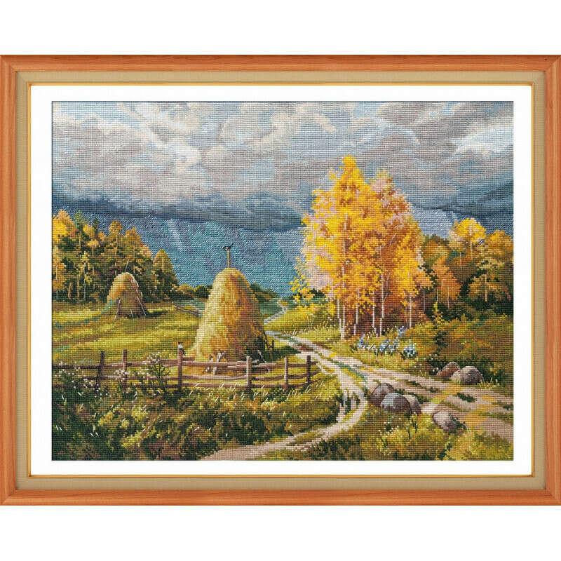 Набор для вышивки крестом Овен Осенняя гроза 1273о