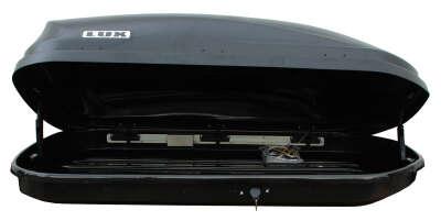 Бокс на крышу LUX600 440L черный матовый 1600х920х400 с двухсторонним открыванием
