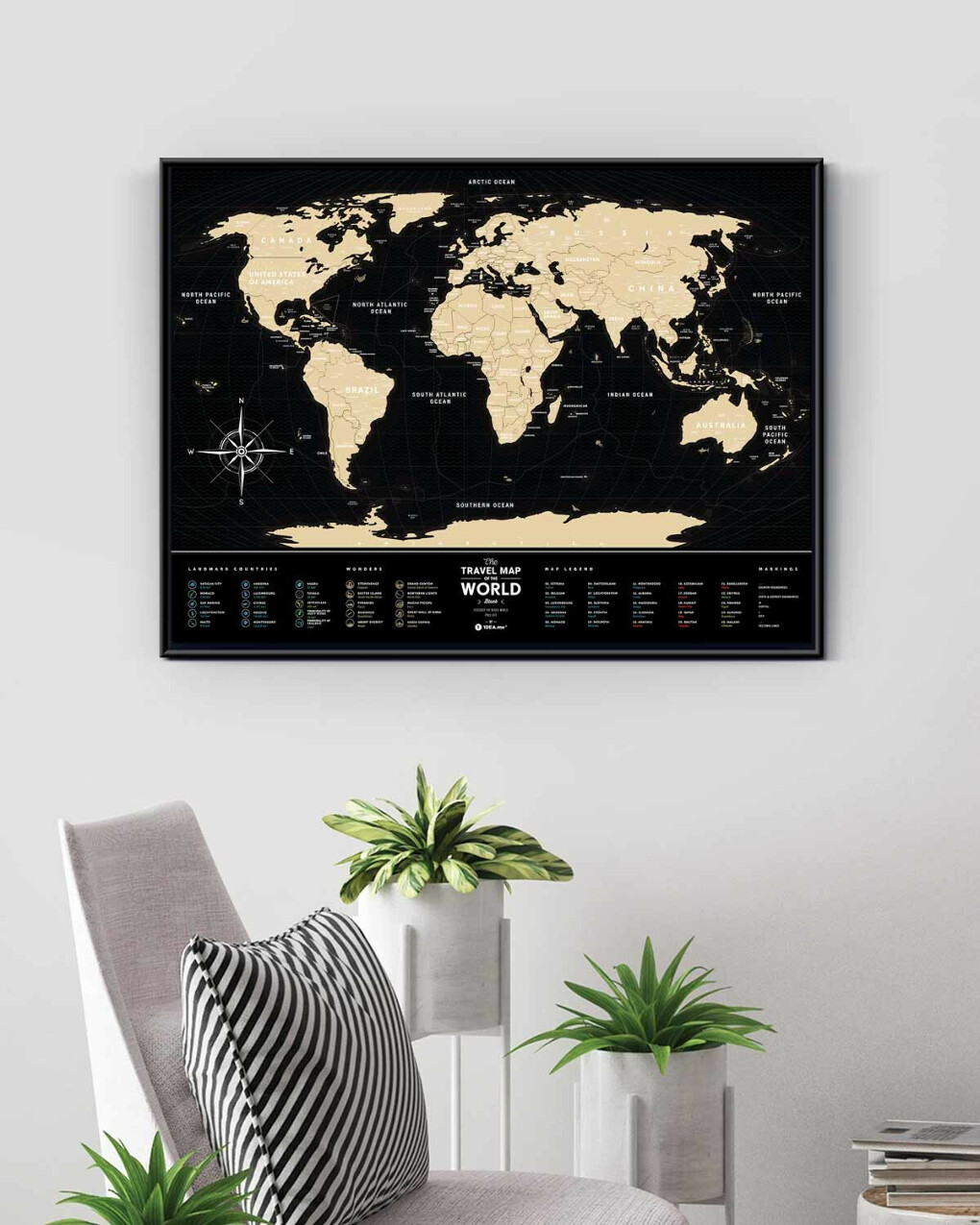 Скретч-карта Мира Travel Map Black