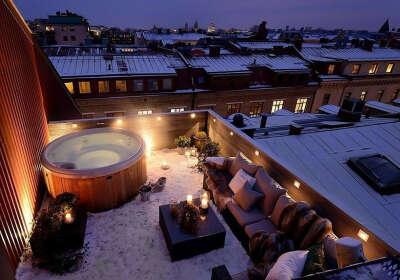 Рождество на крыше собственного дома