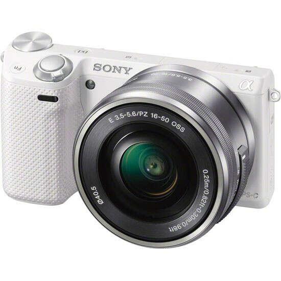 Цифровой фотоаппарат SONY Alpha NEX-5R Kit 16-50 PZ (SEL-P1650) белый