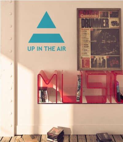 Фан-стикер наклейка на стену UP IN THE AIR