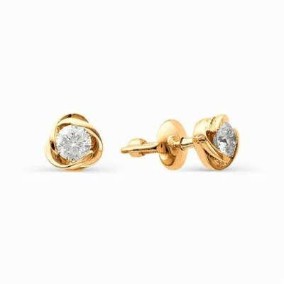 Золотые сережки-гвоздики