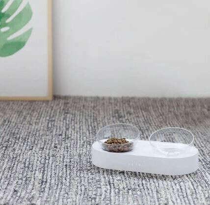 Миска для кошек на подставке, двойная, Fresh Nano